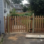 4-foot space picket red cedar fence with gate