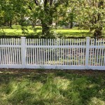 4-foot vinyl spindle-topped space picket fence