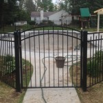 54-inch modified pool fence with arch gate