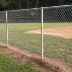 6-foot galvanized chain link fence