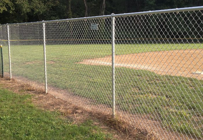 6foot galvanized chain link fence