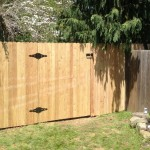 6-foot cedar dog ear fence with gate