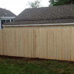 6-foot spruce stockade fence