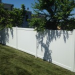 6-foot white soild board vinyl