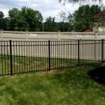 Black aluminum Jerith fence - Style 202