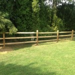 3-rail split rail fence